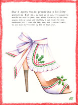 Claudia Lynch ShoeStories - Christmas Apron Shoe