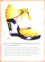 Claudia Lynch ShoeStories -  Blonde Shoe