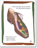 Claudia Lynch ShoeStories - Bourbon Street Shoe Card