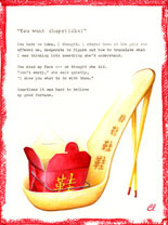 Claudia Lynch ShoeStories - Chopsticks Shoe or Chinese Food Shoe