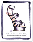 Claudia Lynch ShoeStories - No Heels Shoe Card