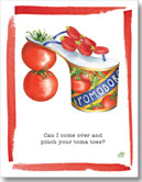 Claudia Lynch ShoeStories - Tomato Shoe Card