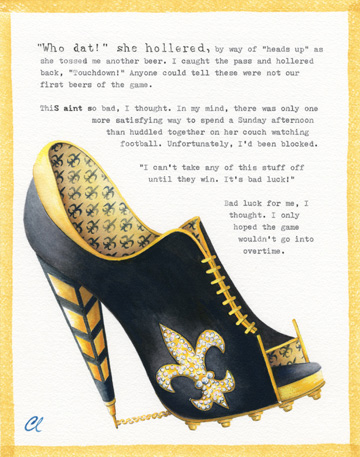 New Orleans Saints shoes Painted by Toms by Tara: New Orleans Saint