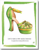 Claudia Lynch ShoeStories - Salsa Shoe Card