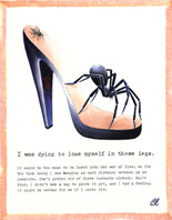 Claudia Lynch ShoeStories - Black Widow Shoe
