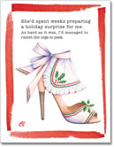 Claudia Lynch ShoeStories - Christmas Apron Shoe Card