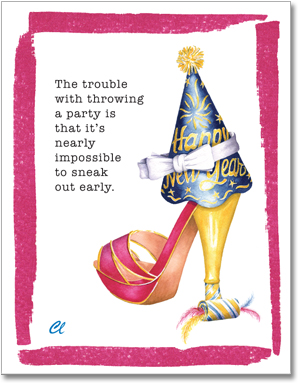 Claudia Lynch ShoesStories - New Years Eve Shoe Card Invitation