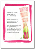 Claudia Lynch ShoeStories - Xmas Stocking Card