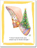 Claudia Lynch ShoeStories - Christmas Tree Shoe Card